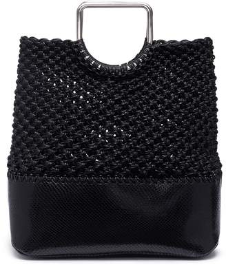 Proenza Schouler 'Market' medium snake embossed leather macramé tote