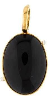 Faraone Mennella 18K Onyx & Diamond Pendant