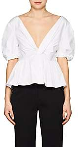 A.L.C. Women's Moritz Stretch-Cotton Poplin Peplum Top - Ivorybone