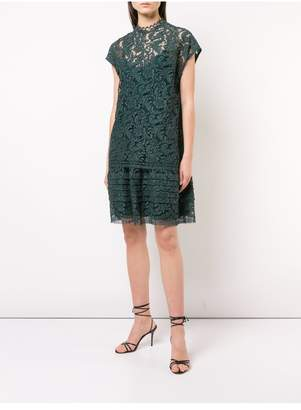 ADAM by Adam Lippes Corded Lace Double Layer Mini Dress