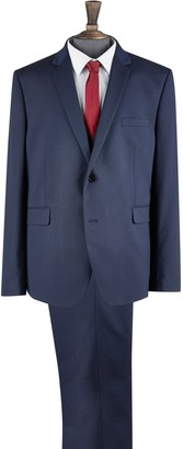 Mens Big & Tall Navy Essential Skinny Fit Suit Jacket