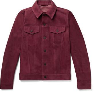 Valstar Slim-Fit Suede Trucker Jacket - Men - Burgundy