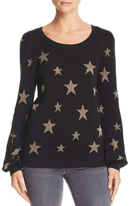 Chaser Metallic-Star Pullover Sweater