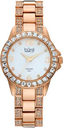 Burgi Women's Diamond & Crystal Watch
