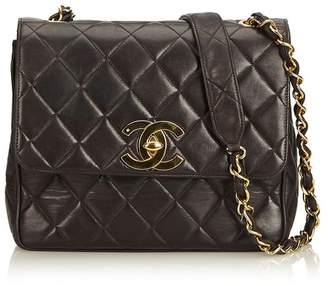Chanel Vintage Matelasse Lambskin Chain Crossbody Flap Bag