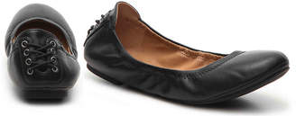 Lucky Brand Echo Ballet Flat -Brown Nubuck Leather - Women's