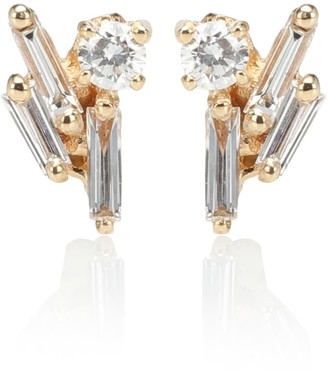 Suzanne Kalan 18kt gold and diamond earrings