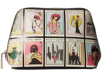 Alice + Olivia Nikki Vintage Stace Collage Cosmetic Case