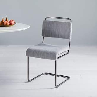 west elm Industrial Cantilever Upholstered Dining Chair