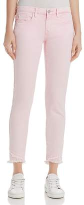 Blank NYC BLANKNYC Frayed Ankle Skinny Jeans in Pink - 100% Exclusive
