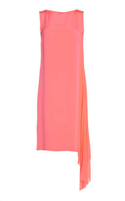 Akris Side Drape Silk Dress