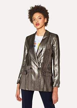 Paul Smith Women's Metallic Double-Breasted Blazer