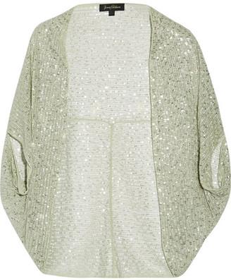 Jenny Packham - Embellished Tulle Jacket - Mint $1,925 thestylecure.com