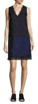 3.1 Phillip Lim Colorblock Lace Shift Dress