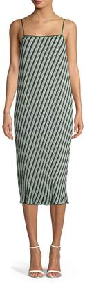 Diane von Furstenberg Striped Slip Dress