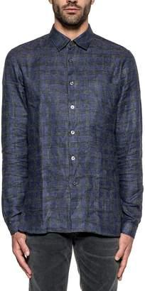 Xacus Elettric Blue/gray Checked Shirt