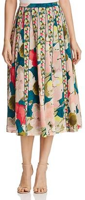 Lafayette 148 New York Adalia Floral Skirt $498 thestylecure.com