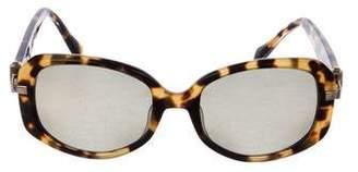 Morgenthal Frederics Argent Tortoiseshell Sunglasses