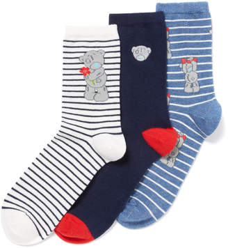 Tatty Teddy Tu Clothing 3 Pack Multicoloured Socks