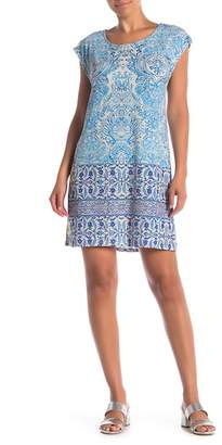 Johnny Was Patterned Cap Sleeve Dress