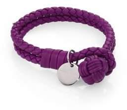 Bottega VenetaBottega Veneta Intrecciato Leather Double-Row Wrap Bracelet