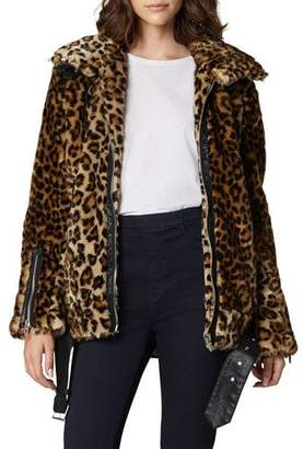 Blank NYC Note To Self Leopard-Print Faux-Fur Jacket