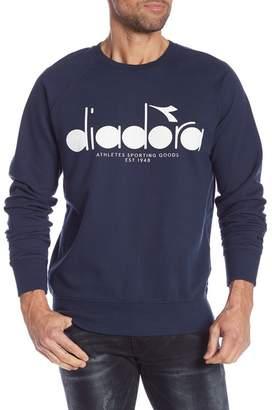Diadora Graphic Long Sleeve Crew Neck Pullover