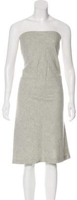 Narciso Rodriguez Strapless Wool Dress