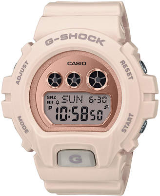 G-Shock Ladies Retro Digital Series Blush With Rose Gold-Tone Face Watch