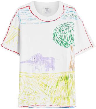 Vetements Elephant River Printed Cotton T-Shirt