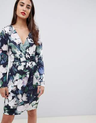 French Connection Printed Jersey Wrap Dress