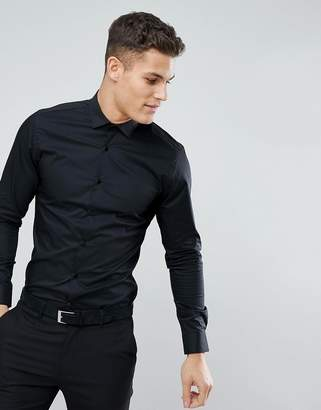 Moss Bros Extra Slim Smart Shirt With Stretch