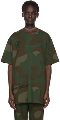 Off-White Multicolor Camo Stencil Over T-Shirt