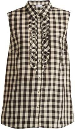 RED Valentino Gingham-print sleeveless shirt