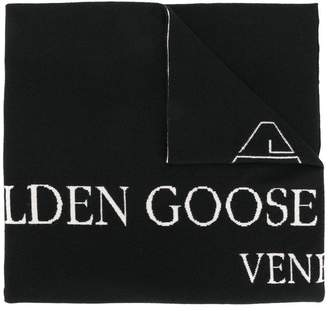 Golden Goose knitted logo scarf