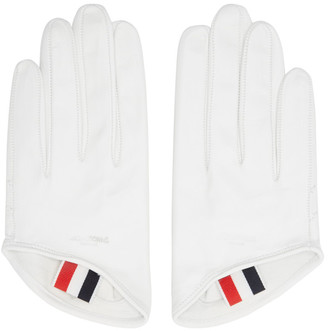 Thom Browne White Unlined Lowcut Gloves $390 thestylecure.com