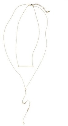Women's Bp. Bar & Crystal Lariat Necklace $19 thestylecure.com