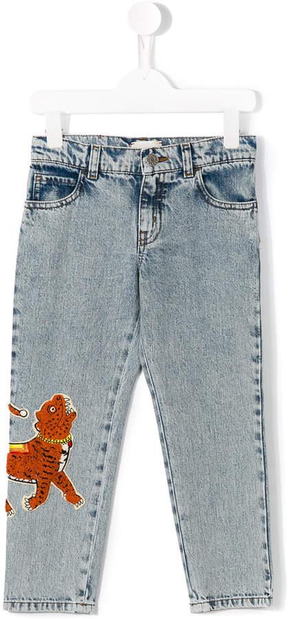 Gucci Kids tiger patch jeans
