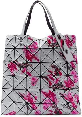 Bao Bao Issey Miyake Lucent Paint Splatter Tote - Womens - Pink White