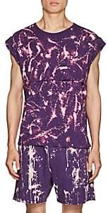 Siki Im Men's Bleach-Splattered Jersey Tank-Purple