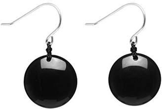 Lola Rose Geotopia Disc Black Agate Earrings