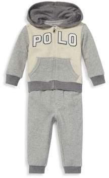 Ralph Lauren Baby Boy's Two-Piece Logo Terry Hoodie& Pants Set