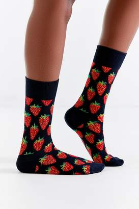 Happy Socks Strawberry Crew Sock