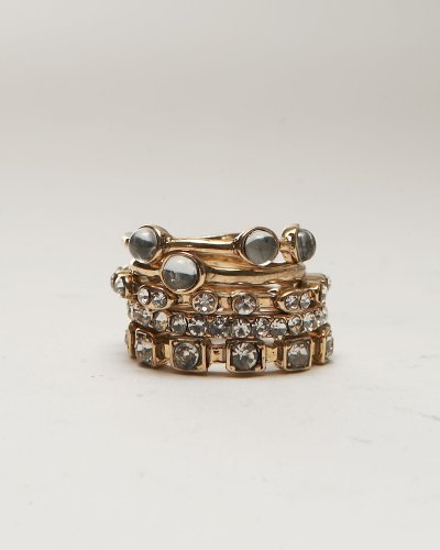 Stacked Crystal Ring