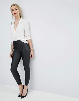 Asos Design Spray On Leather Look Pant