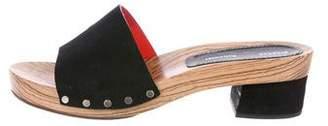 Proenza Schouler Suede Slide Sandals
