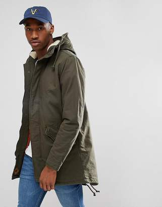 Jack and Jones Parka With Fleece Lining