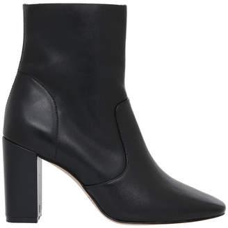 Imogen Black Leather Boot