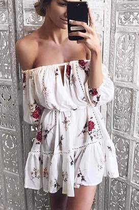 Factory Unknown Offshoulder Sundress