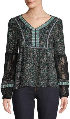 Style&Co. Style & Co. Printed V-Neck Top
